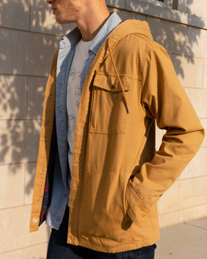 Flannel-Lined Hooded Chore Coat