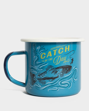 Catch Of The Day 12 oz. Enamel Mug