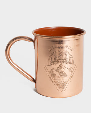 Keep It Wild 14 oz. Enamel-Lined Copper Mug