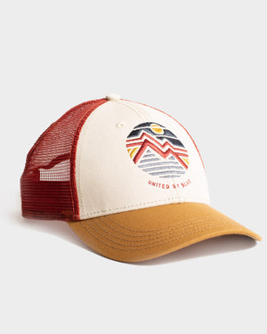 Women's Geo Mountain Trucker Hat
