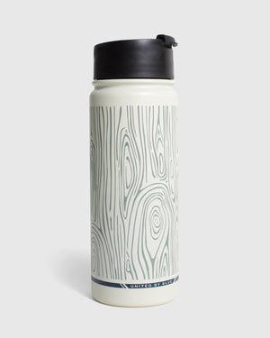 Woodgrain 18 oz. Travel Bottle