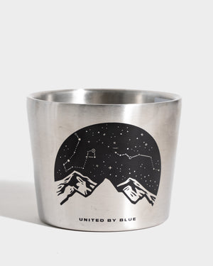 Lunar Mountain 10 oz. Stainless Steel Compass Cup