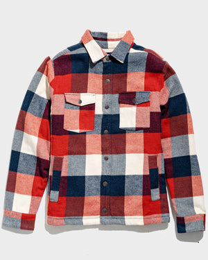 The Sherpa-Lined Responsible Flannel Shirt Jacket