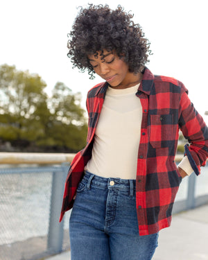The Womens Buffalo Check Responsible Flannel