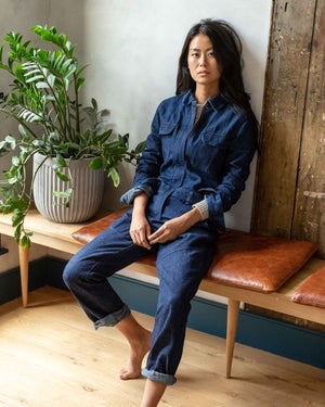 Recycled Denim Coverall