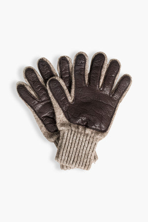 Bison Leather Palm Gloves