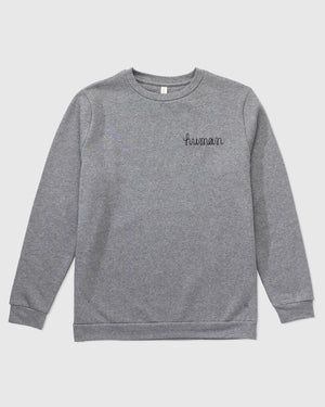 Human Chain Stitch Crew Sweatshirt