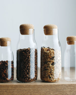 Bottlit Glass & Cork Storage Jar