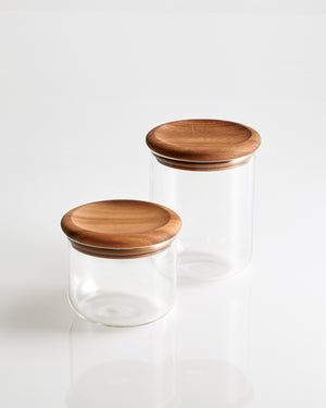 Baum Neu Glass & Wood Storage Jar