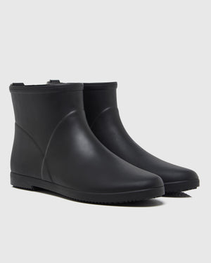 Minimalist Ankle Rain Boot - Black