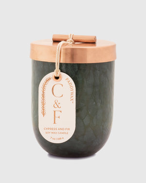 Cypress & Fir 7 oz. Blown Glass Candle
