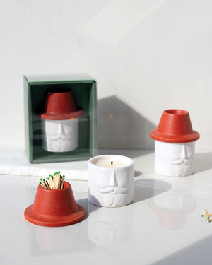 Mr. Kringle Candle & Match Holder