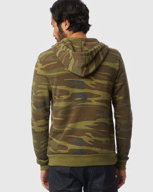 Rocky Printed Eco-Fleece Zip Hoodie