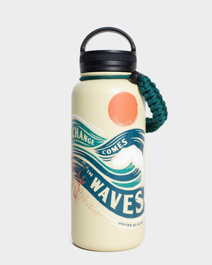 Change Comes In Waves 32 oz. Insulated Steel Water Bottle