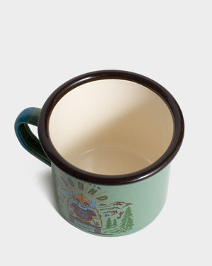 Mountain Bound 12 oz. Enamel Mug