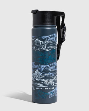 Waves 22 Oz. Insulated Steel Bottle