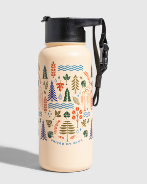 Funky Forest 32 Oz. Insulated Steel Bottle