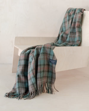 Fraser Hunting Weathered Tartan Recycled Wool Blanket
