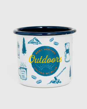 Outdoors Enamel 12 oz. Mug
