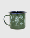 22 oz. Evergreen Enamel Steel Mug