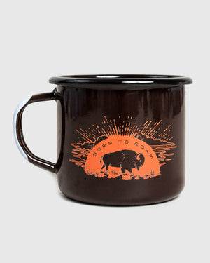 Born to Roam Enamel Steel Mug