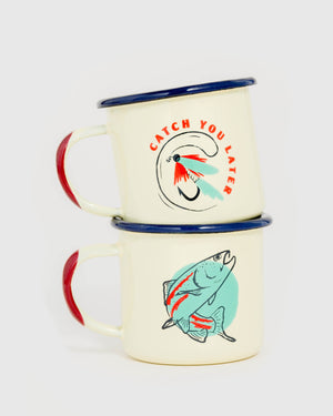 Catch You Later Enamel 5 Oz. Mini Mugs