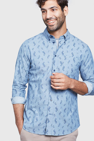 Outpost Printed Button Down
