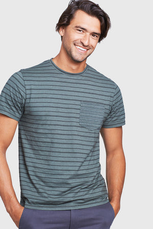 Men's Striped Standard Pocket Tee