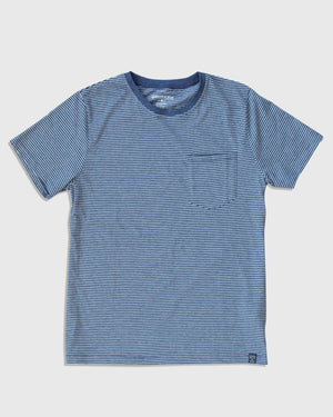 Men's EcoKnit™ Striped Pocket Tee