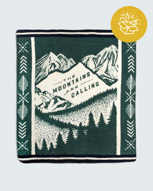 The Mountains Are Calling Fleece Throw Blanket