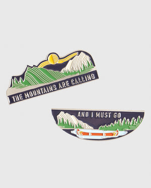 Mountains Are Calling Enamel Friendship Pins