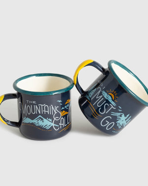 Mountains Are Calling Enamel 6 Oz. Mini Mugs