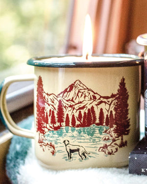 Off Leash Enamel Mug Candle