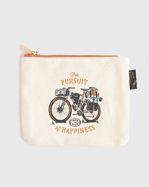 Pursuit Of Happiness Canvas Pouch
