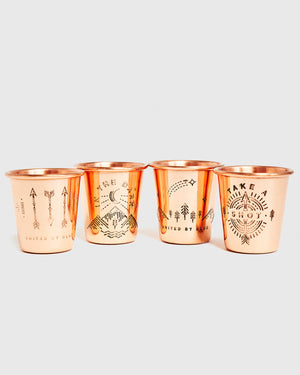 Shot In The Dark Copper Shot Glass Set