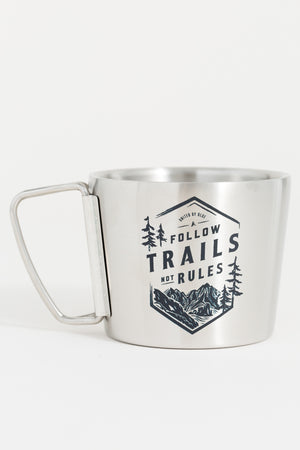 Follow Trails 12 oz. Stainless Steel Compass Cup