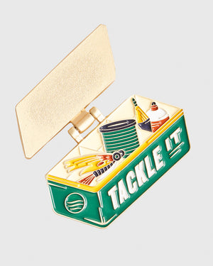 Tackle It Enamel Pin