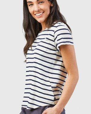 Women's Striped Pocket Tee
