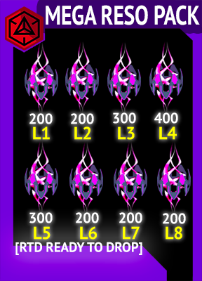 [RTD Ready To Drop] 2000 MEGARESO PACK  L1-L8 RESONATOR