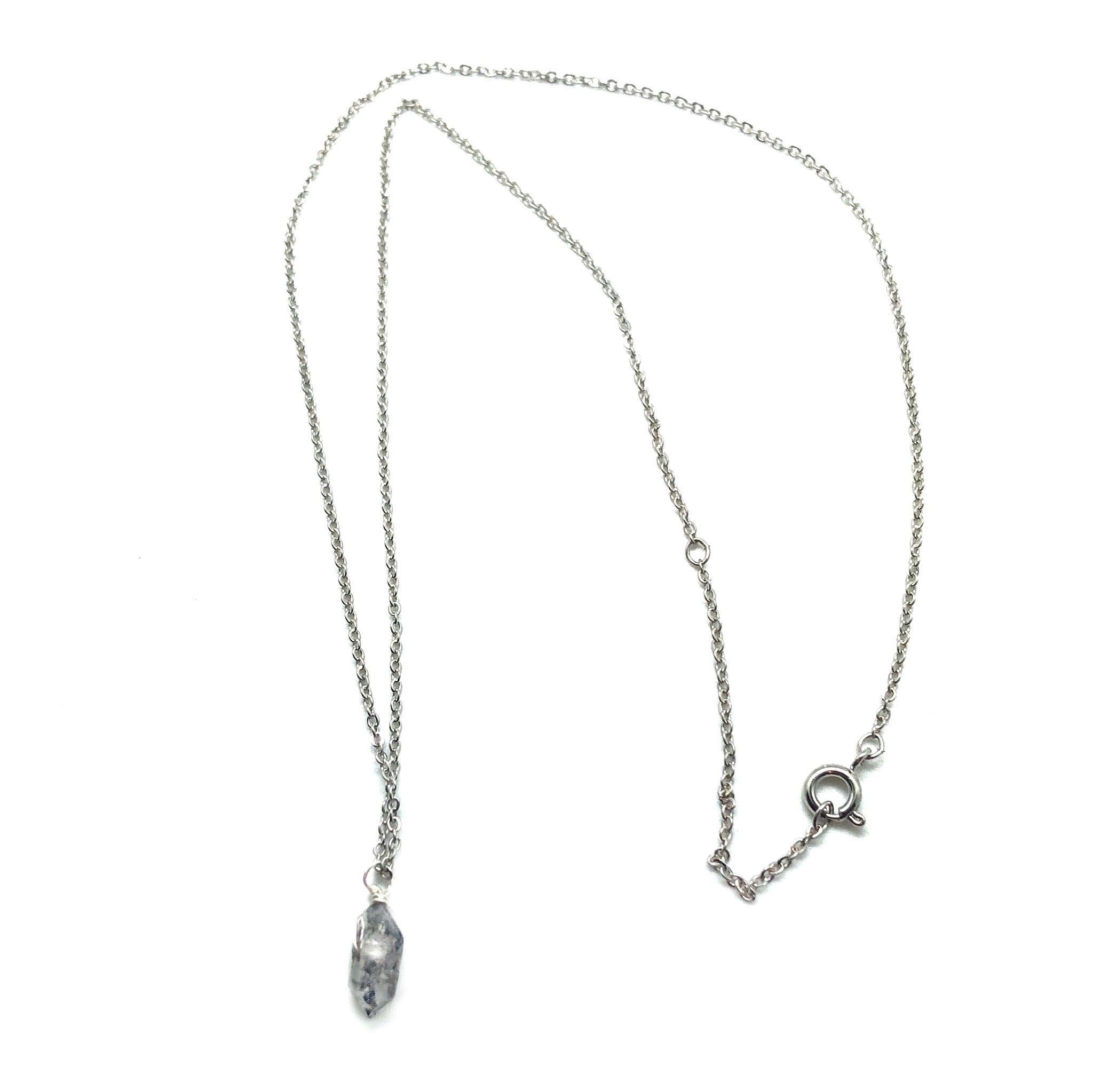 Silver Herkimer Diamond Necklace