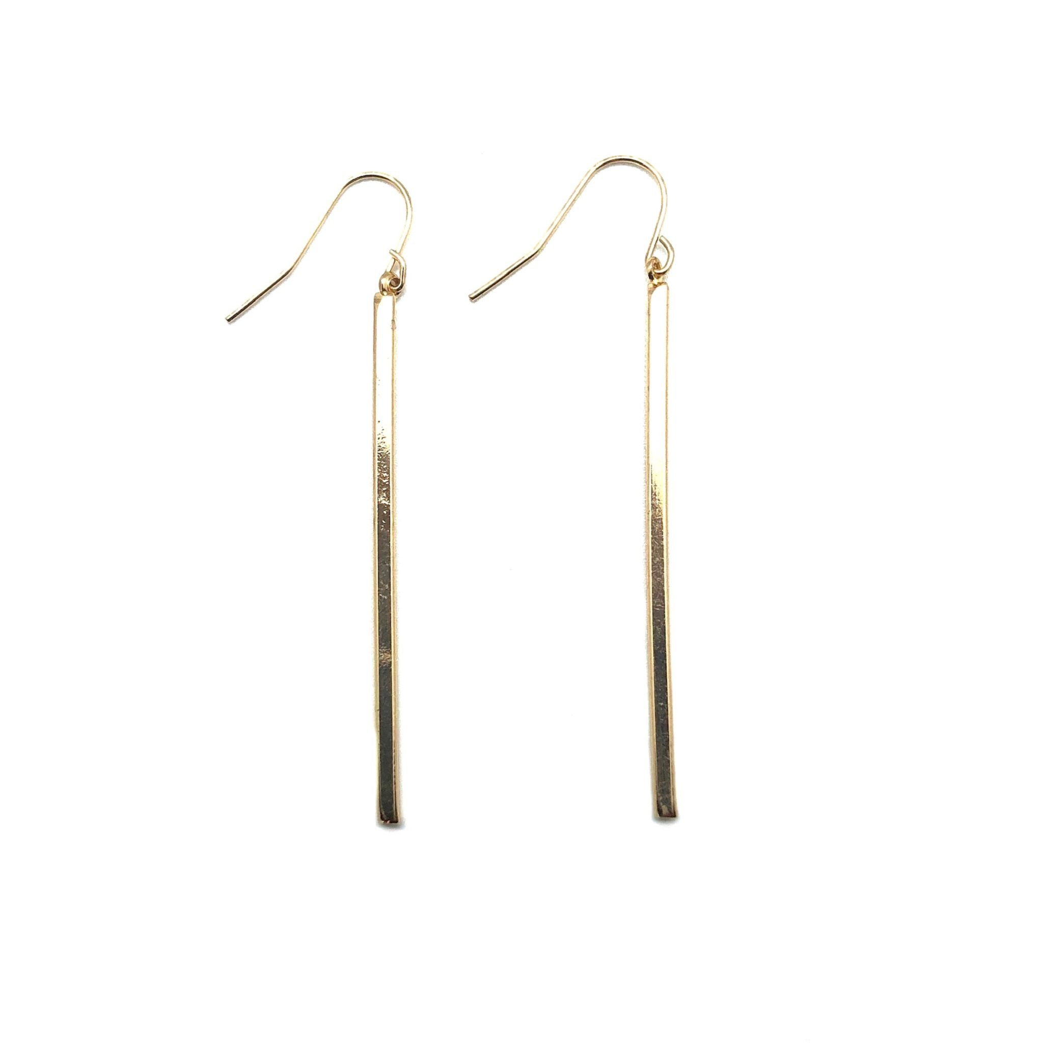 Gold line Up Earring