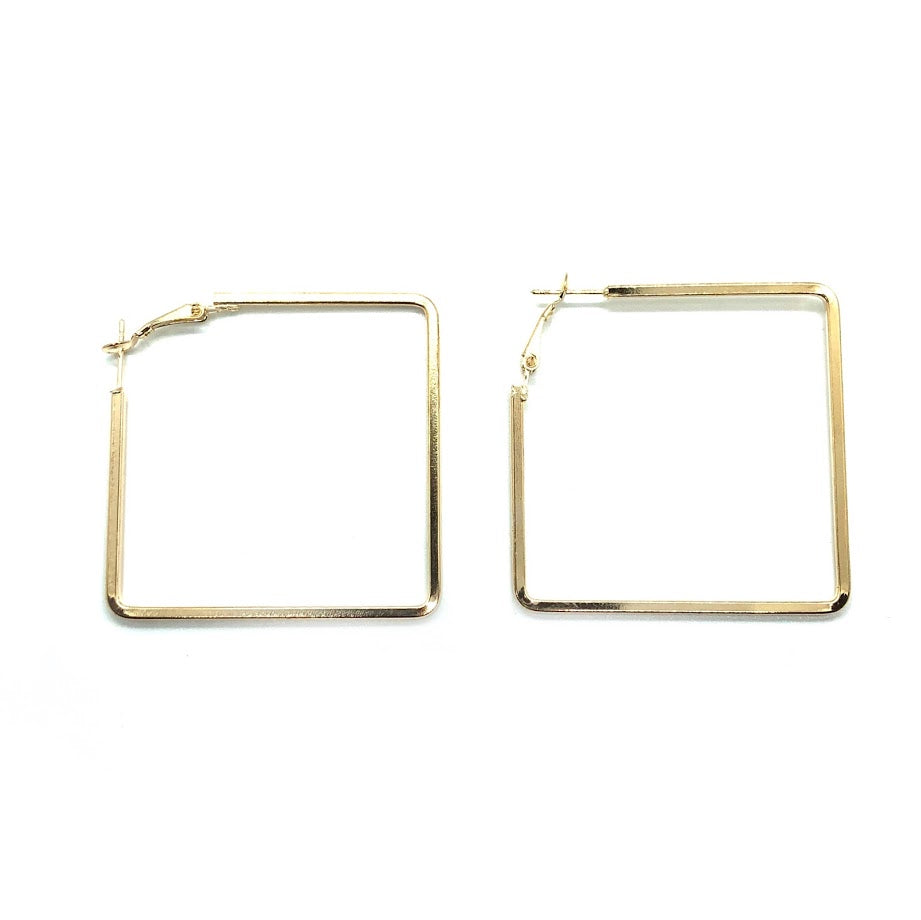Gold Square Hoop