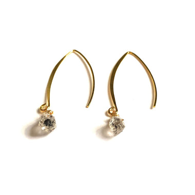 Herkimer Diamond Dangle Earring