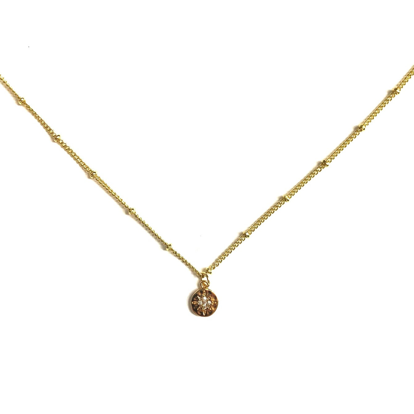 Gold Starburst Midi Necklace