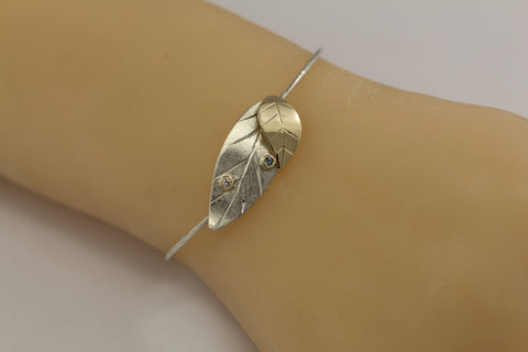 laurel leaf graduation and birthstone bracelet