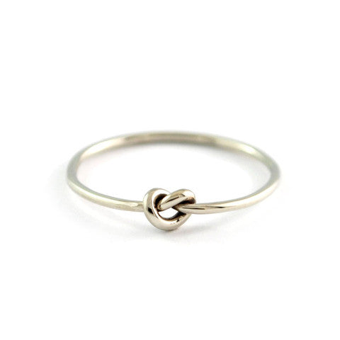 White Gold Knot Ring