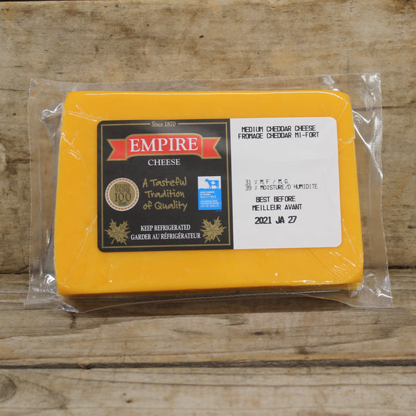 Medium Cheddar, Orange - Empire Cheese