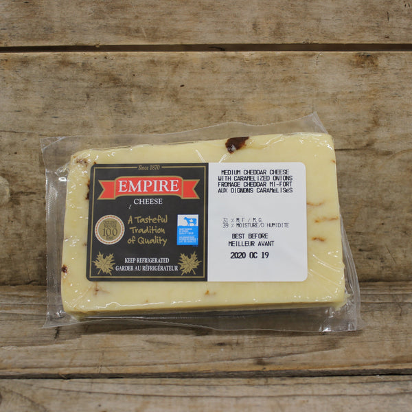Medium Cheddar with Caramelized Onion - Empire Cheese