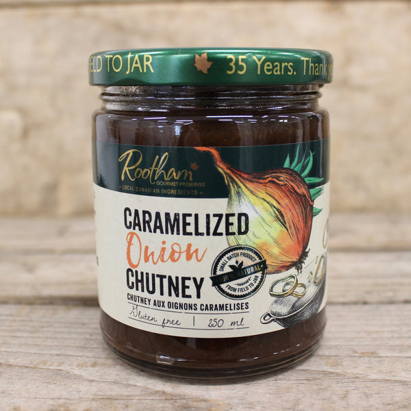 Caramelized Onion Chutney - Rootham Gourmet Preserves