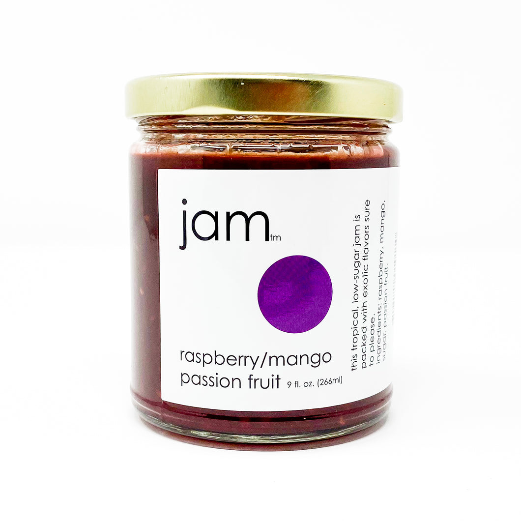 Raspberry, Mango and Passion Fruit Jam